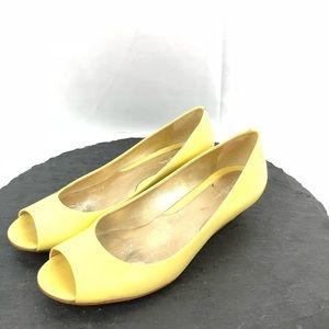 Cole Haan Yellow Peep toe flats size 8.5B